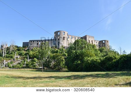 The Landmark Borgholm Castle In Sweden At The Island Oland