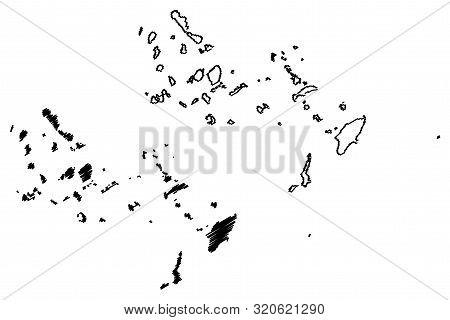South Aegean Region (greece, Hellenic Republic, Hellas) Map Vector Illustration, Scribble Sketch Sou