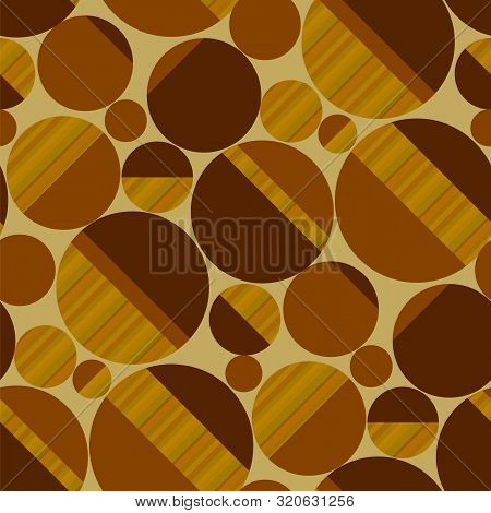 Oblong oval shapes horizontal repeat motif. Concept simple wood textured geometric 50s vintage seamless pattern. Rapport for for fabric, textile, wrap, surface, wallpaper, web and print design. poster