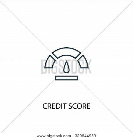 Credit Score Concept Line Icon. Simple Element Illustration. Credit Score Concept Outline Symbol Des