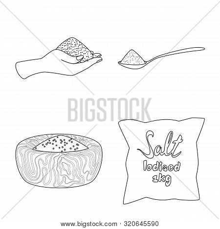 Vector Illustration Of Sodium And Mineral Icon. Set Of Sodium And Kitchen Stock Vector Illustration.
