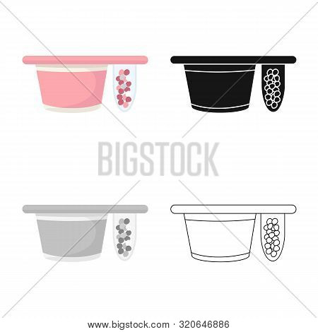 Vector Illustration Of Packing And Yogurt Logo. Collection Of Packing And Crispy Stock Vector Illust