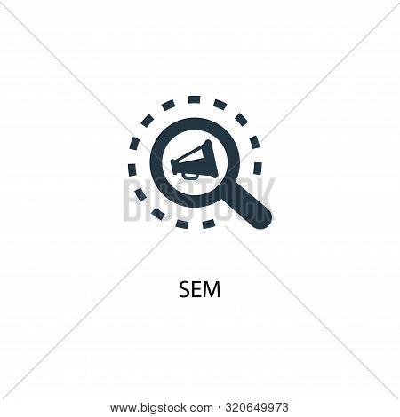 Sem Icon. Simple Element Illustration. Sem Concept Symbol Design. Can Be Used For Web