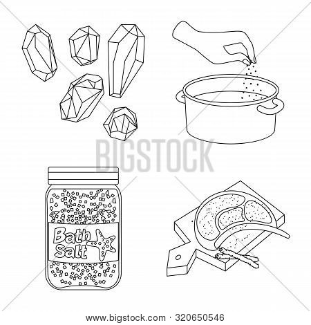 Vector Illustration Of Sodium And Mineral Icon. Collection Of Sodium And Kitchen Stock Vector Illust