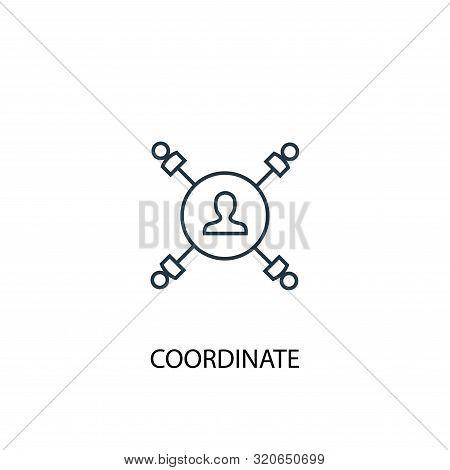 Coordinate Concept Line Icon. Simple Element Illustration. Coordinate Concept Outline Symbol Design.