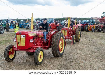 Haselbury Plucknett.somerset.united Kingdom.august 18th 2019.a Restored Vintage David Brown Tractor