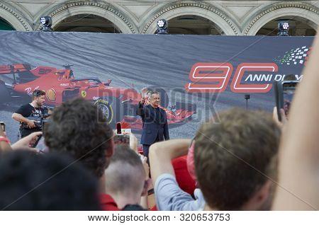 Milan, Italy - September 4th 2019: Ferrari Racing Formula One 90th Anniversary, Duomo Square. Jean A