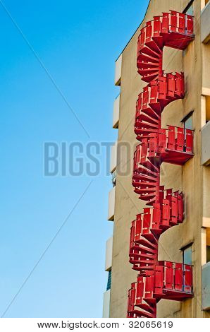 Emergency Stairs. Urban Architecture Background