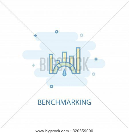 Benchmarking Line Concept. Simple Line Icon, Colored Illustration. Benchmarking Symbol Flat Design