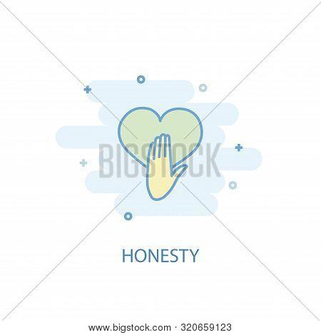 Honesty Line Concept. Simple Line Icon, Colored Illustration. Honesty Symbol Flat Design