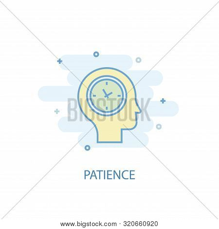 Patience Line Concept. Simple Line Icon, Colored Illustration. Patience Symbol Flat Design