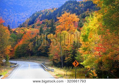 Scenic drive through New England country side