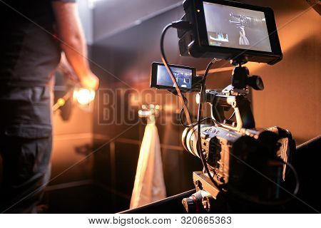 Behind The Scenes Of Filming Films Or Video Products And The Film Crew Of The Film Crew On The Set I