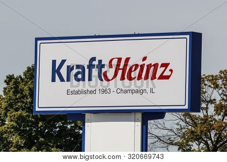 Champaign - Circa August 2019: Kraft Heinz Company Manufacturing Plant. Kraft Makes Its Macaroni And