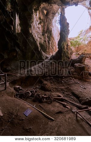 A Natural Cave On Khao Khanab Nam Mountain In Krabi, Thailand.