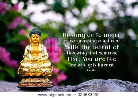 Holding on to anger is like grasping a hot coal with the intent of throwing it at someone else; you are the one who gets burned - buddha poster