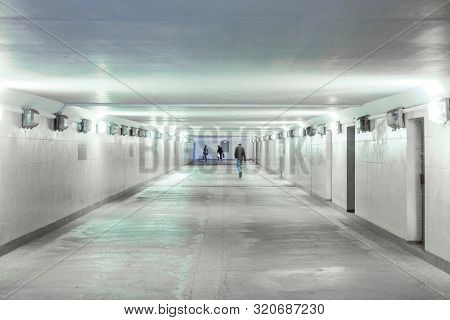 Moscow, Russia - August, 29, 2019: interior of a passageway in Moscow, Russia