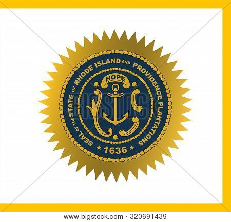 Flag Of Rhode Island Officially The State Of Rhode Island And Providence Plantations, Is A State In