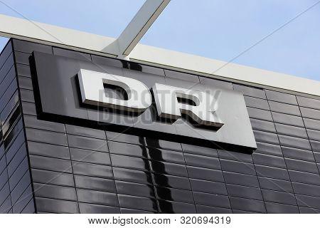 Copenhagen, Denmark - September 4, 2019: The Danish Broadcatser Dr Danmarks Radio Logo On One Of The