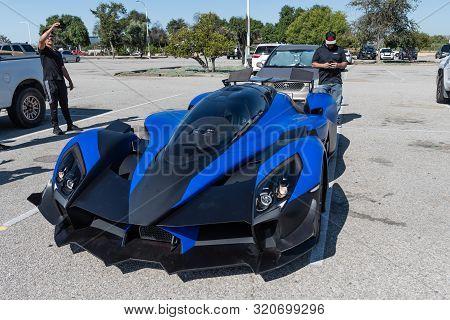 Raesr Tachyon Speed Prototype Electric Hypercar On Display During Supercar Sunday Event.