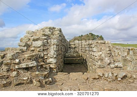 Roman Remains At Housesteads On Hadrians Wall, Northumberland