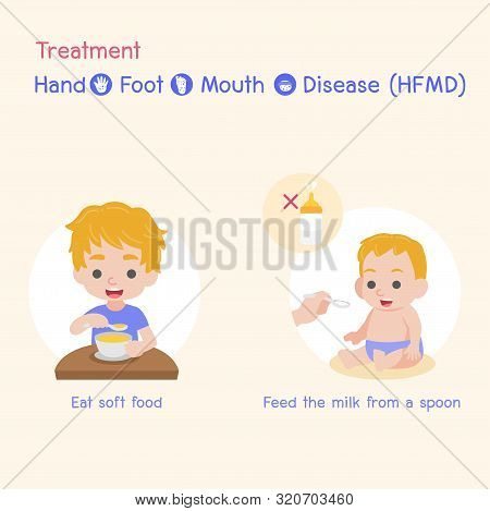 Treatment, Children Infected And Health, Baby And Child Have A Hand Foot Mouth Disease, Hfmd In Rain
