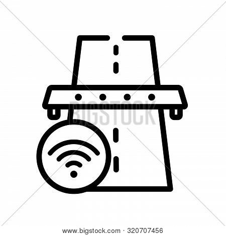 motorway icon from artificial intelligence collection. Isolated outline icon