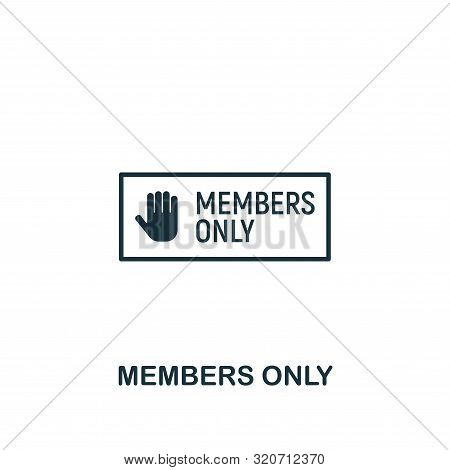 Members Only Icon. Creative Element Design From Content Icons Collection. Pixel Perfect Members Only