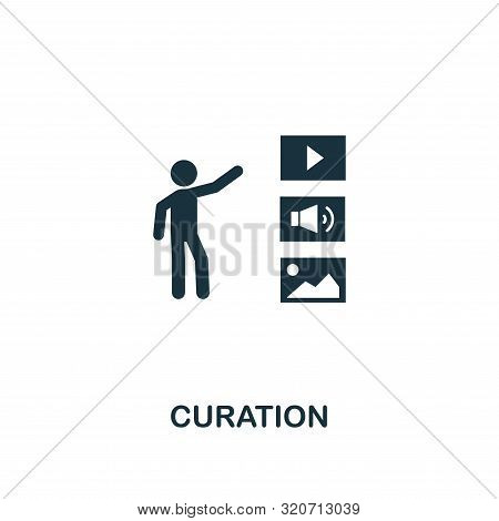 Curation Icon. Creative Element Design From Content Icons Collection. Pixel Perfect Curation Icon Fo