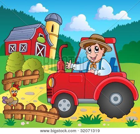 Farm theme image 3 - vector illustration.