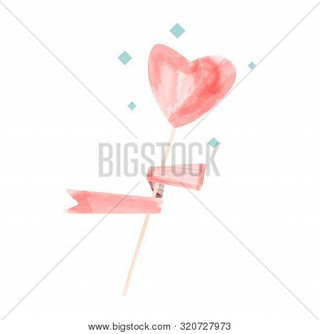 Vector Watercolor Hearts, Valentine Day.watercolor, Paint, Vector, Abstract,