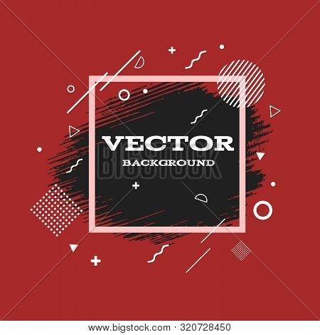 Grunge Background Red Black Abstract For Your Design Eps 10