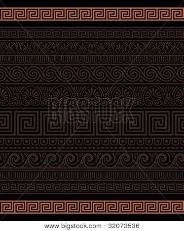 Seamless Greek Ornamental borders