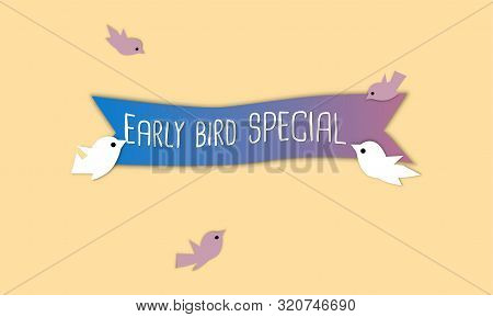 Early Bird Special Discount Sale Event Banner Or Poster For Your Website.