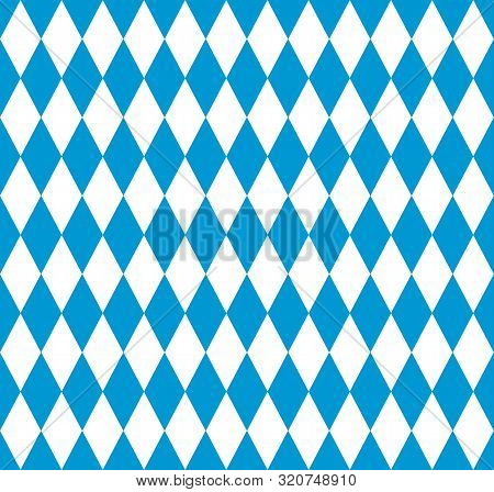 Bavarian Flag Seamless Pattern For Oktoberfest Party