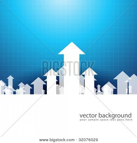 vector upside growing arrow design illustration poster
