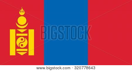 Flag Of Mongolia Vector Illustration, Worlds Flags Collection
