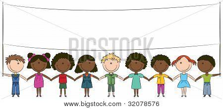 Happy Kids Of Different Nationalities