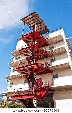 Modern building fire escape