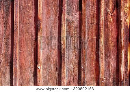 Weathered Dark Brown Wooden Plank Wall Background, Germany