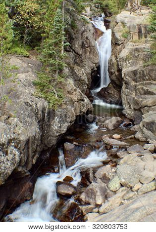 Chasm Falls In Rocky Mountain National Park