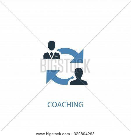 Coaching Concept 2 Colored Icon. Simple Blue Element Illustration. Coaching Concept Symbol Design. C