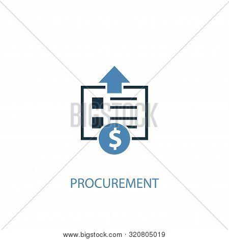 Procurement Concept 2 Colored Icon. Simple Blue Element Illustration. Procurement Concept Symbol Des
