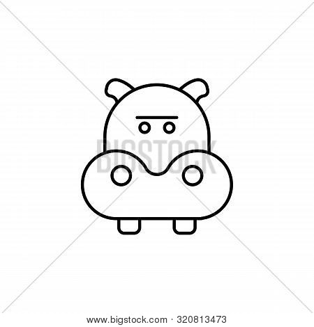 Hippopotamus Line Icon. Element Of Jungle For Mobile Concept And Web Apps Illust