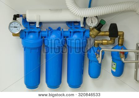 Under Sink Water Filter System In A Hospital