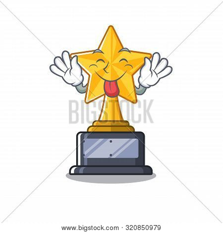 Tongue Out Star Shaped Cartoon The Toy Trophy