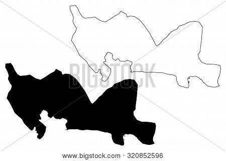 Santo Domingo Province (dominican Republic, Hispaniola, Provinces Of The Dominican Republic) Map Vec