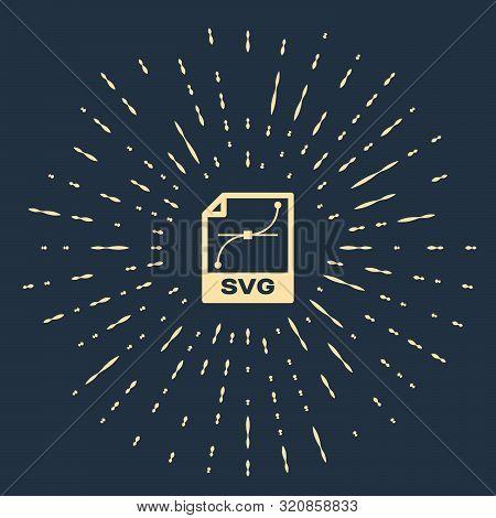Beige Svg File Document. Download Svg Button Icon Isolated On Dark Blue Background. Svg File Symbol.