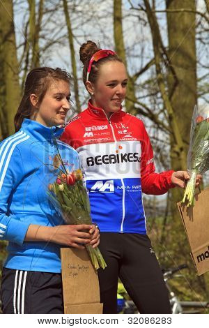 Roos Staps And Lindy Van Anrooy On The Winners Podium