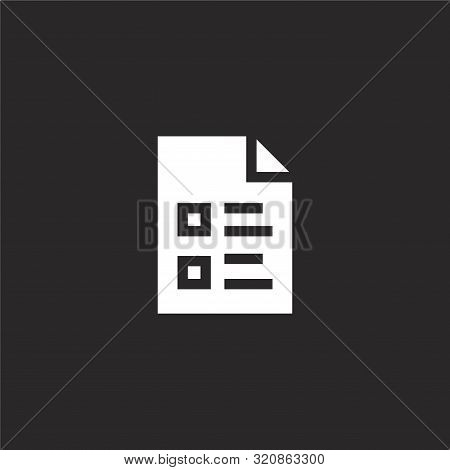 Archive Icon. Archive Icon Vector Flat Illustration For Graphic And Web Design Isolated On Black Bac